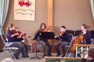 String Quintet at the Musical Festival